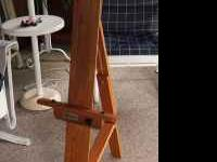 Easel - solid oak. Like new. A. Richeson Co. $85.00