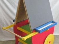 "Easel Wagon Chalk Board and Dry Erase - 22"" x 22"" Paper"
