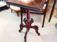 We just brought in a cool little Eastlake table in the