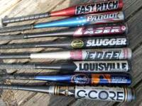 I am selling these used bats. A few of the bats in the
