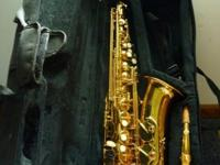 My boy utilized this Conductor Eb Alto Saxophone for