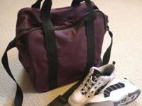 Ebonite bag, holds 1 ball, one pair of shoes, exterior