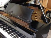 Very good condition Ebony Steinway Grand Piano, with