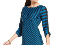 Diagonal stripes on this pretty ECI top elongate your