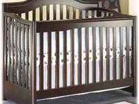 4 in 1 convertible crib with a couple small scratches,