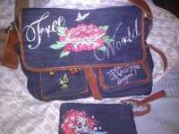 Ed Hardy Messinger style bag. Authentic Ed Hardy bag!!!