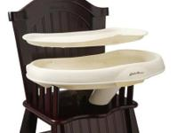 Eddie Bauer space saver wood high chair. Dark