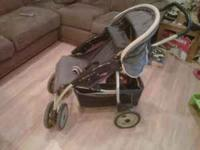 Eddie Bauer Retractable Stroller Blue and Green. You