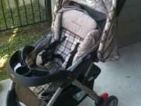 Stroller is clean and in good shape. Stroller also