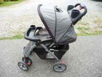 This Eddie Bauer Stroller is in good condition. I was