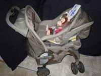 Eddie Bauer car seat and stroller combo with 2 car