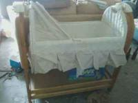 Wooden Baby Bassinet in very nice condition. If