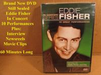 Brand new unopened DVD. Eddie Fisher In Concert. Ten
