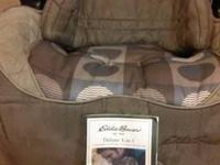 Eddie Bauer 3-in-1 deluxe car seat. Fully convertible