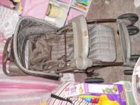 EddieBauer stroller and baby carrier with base call at