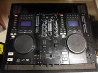 Portable DJ system  Dual CD/USB player with mixer
