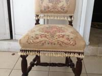 EDWARDIAN STYLE SIDE CHAIRS 1890'S. THREE FOR $60.00