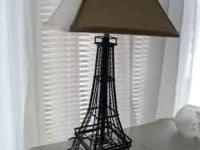 EIFFEL TOWER LAMP WITH SHADE. PERFECT CONDITION. PLEASE
