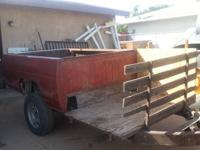 Eight Foot Service Bed Utility Trailer with Shell &