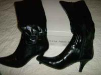 EITIENNE AIGNER BOOTS WORN ONE TIME IN LIKE NEW