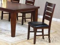 Warm and inviting appeal of these Urbana Dining Chairs