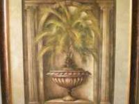 2 PALM TREE PRINTS BY ELAINE VOLLHERBST ALCOVE PALM I