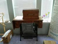 "Eldridge ""B"" Treadle Sewing Machine.  Built in the"