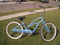 I'm selling a blue Electra cruiser bike in great