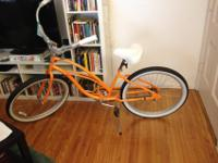 I just won this brand new orange beach cruiser at an