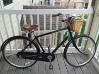 Sleek, black, Electra Street Cruiser bicycle. In great