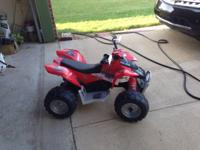Kids electric 4 wheeler, not really used much and runs