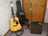 A complete musician's kit: Fender electric/acoustic
