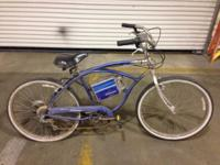 This is a beach cruiser made by currie bicycles it runs