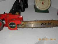 Craftsman 2 horsepower,14 inch bar.Works great, ready