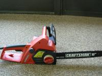 Craftsman chainsaw with 16in bar. Auto oil, chain