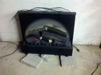 For sale is a used Electric Fireplace Insert. Looks