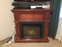 Electric Fireplace with Remote Control Moving  in 3