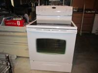 5 burner electric flat top range with convection oven -
