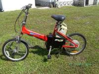 24 volt electric folding bike- good condition. for more