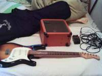 I have a Burswood Guitar, A roland Cube 20 with