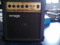 I AM SELLING MY TWO CHANNEL PYTHON AG-10 AMPLIFIER. IT