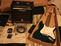 Austin electric guitar (Fender Stratocaster style) and