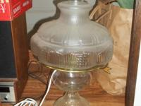 This is an electric hurricane lamp.  Works great,