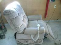 Used Art Van electric lift chair, tan in color, like