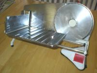This electric meat slicer is all Stainless Steel, from