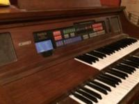 Lowery electric organ for sale. It works fine as far as