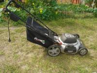 "Task Force Electric Lawn Mower 12 AMP 20"" cut Plugs in,"