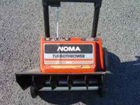 NOMA 1500 115 VOLTS AC ELECTRIC SNOW SHOVEL (FLIPS SNOW