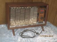 vintage electric space heater in excellent cond. like