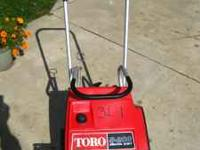 TORO Electric start, S-200 one stage snowblower for